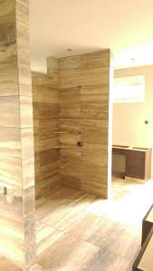 tiles create ambience your desire with travertine tile bathroom