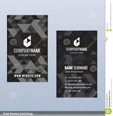 modern creative black and white business card template stock