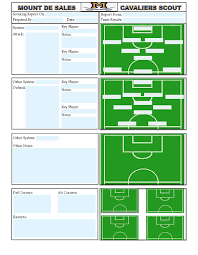 coaches report template soccer scouting template other designs template