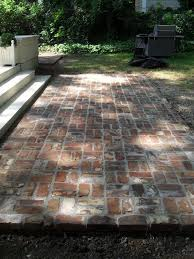 Paver Patio Edging Options Reclaimed Brick Patio Reminder To Reuse The Bricks From The