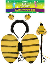 kids bumble bee tutu costume fancy dress halloween ears animal