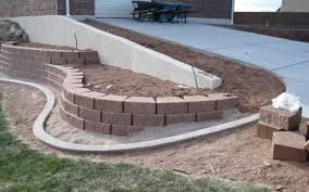 idea for below retaining wall outdoor spaces pinterest