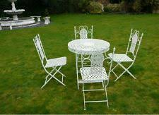 White Cast Iron Patio Furniture Cast Iron Garden Sets Ebay