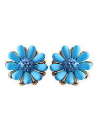 plastic stud earrings mokanc blue plastic stud earrings for women at glowroad