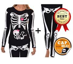 Skeleton Maternity Halloween Costumes Maternity Halloween Shirt Leggings Pregnant Skeleton