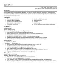Resume Samples For Truck Drivers With An Objective by Unforgettable Delivery Driver Resume Examples To Stand Out