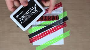 studio sn making christmas cards with washi tape youtube