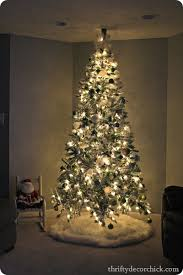 lightly flocked christmas tree christmas tree party 2012 from thrifty decor
