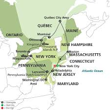 Boston City Map Tourist by 16 Nights Eastern Us And Canada Grand Vacation With Extended Stay