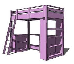 Twin Loft Bed With Desk Plans Free by Best 25 Loft Bed Desk Ideas On Pinterest Bunk Bed With Desk