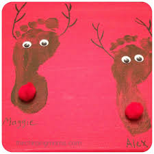 two christmas projects for little ones reindeer footprint