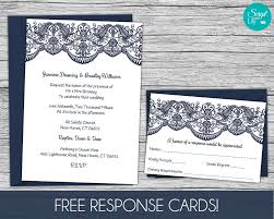 lace wedding invitation template free response card template