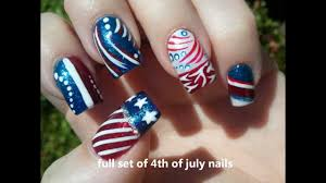 red white blue nail art youtube