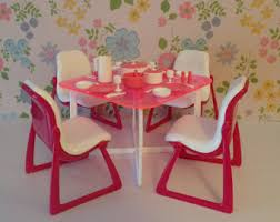 Barbie Dining Room Set Vintage Barbie Furniture Etsy