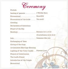 exles of wedding ceremony programs lovely vow templates ideas exle resume ideas alingari