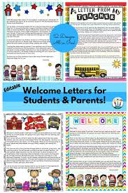 back to letters editable welcome letters for students and