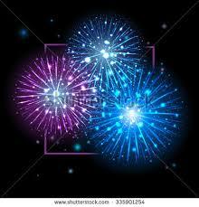 festive fireworks holidays background sky stock vector