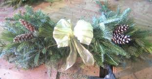 how to make a swag christmas out of pine tree branches spruce