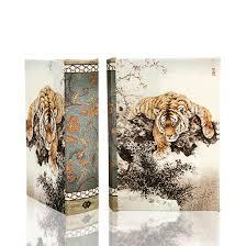 tiger and cherry blossom arttrue decor