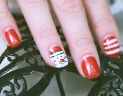 christmas nails get festive with patterned and sparkly designs
