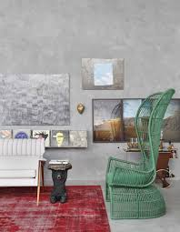stylish painting concrete walls design