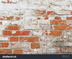 old wall red bricks white brayed stock photo 679155094 shutterstock