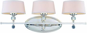 Savoy House  Murren Light Vanity Bar In Polished - Bathroom vanity light with fabric shades