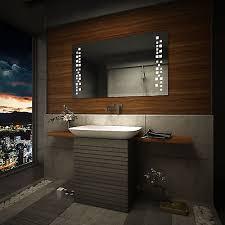 Bathroom Demister Mirrors Led Illuminated Bathroom Mirror L38 Sensor Switch Led Clock