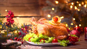 roasted chicken dinner winter table served