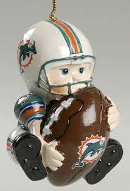 scottish lil fan nfl team ornaments miami dolphins no