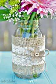 jar centerpieces jar centerpieces with burlap lace