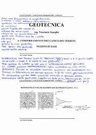 geotecnica dispense geotecnica appunti