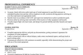 Truck Driver Resume Sample by Truck Driver Resume References Template Reentrycorps
