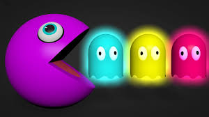 funny colors learn colors for kids with pacman funny colored ghost youtube