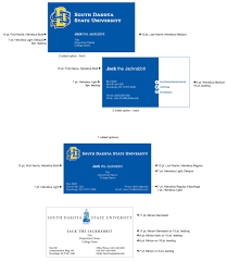 official business cards south dakota state university