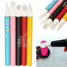 5pcs nail art silicone head brush clay sculpture carving painting