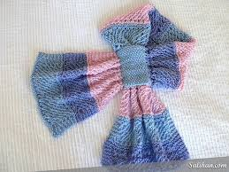 knitting pattern bow knot scarf knitted bow knot wisp scarf salihan crafts blog