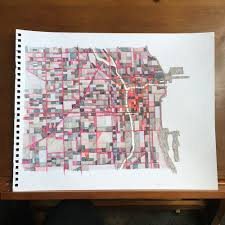 Chicago Map Art by Big As In 9x12 U0027 News Custom Order Installed In Chicago Office