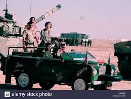 jeep 1985 margaret thatcher with king hussein in a military official jeep