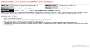 help desk agent support core banking application cover letter u0026 resume