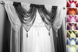 Swag Curtains For Living Room by Voile Swag Swags Tassle Decorative Net Curtain Drapes Pelmet