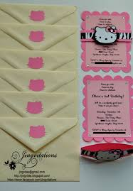 Hello Kitty Invitation Card Maker Free Hello Kitty Safari Invitations Jingvitations