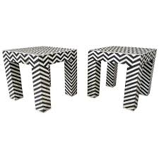 black and white side table pair of pop art geometric black and white side tables