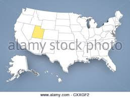 map usa utah united states of america map and utah territory isolated on white