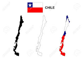 Chile Santiago Flag Chile Map Vector Chile Flag Vector Isolated Chile Royalty Free
