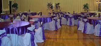 purple chair sashes linen rentals