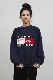 vintage hilfiger sweaters vintage hilfiger 90 s navy blue sweater