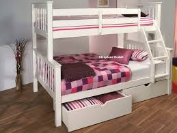 Signature Pavo White Wooden Double Bunk Bed Single And Ft Double - Double top bunk bed