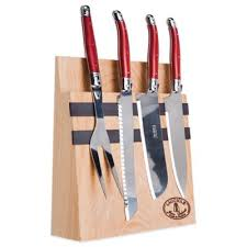 Red Kitchen Knife Block Set buy forged knife set with block from bed bath u0026 beyond