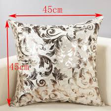 online get cheap decorative silver pillows aliexpress com retro european style silver foil royal flower ice velvet pillow case cushion cover home decor new